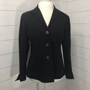 Lafayette 148 New York Black Wool Blazer Size 6